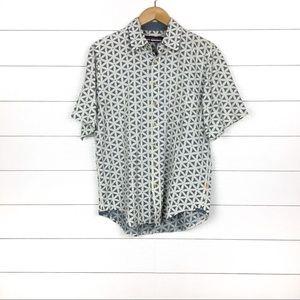 Reyn Spooner Linen Printed Short Sleeve Shirt